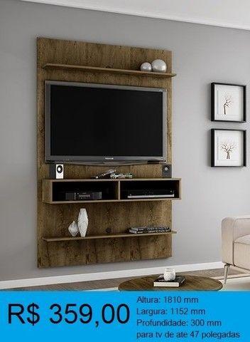 painel de tv madeira rustica -compre pelo whatssap e pague na entrega! - Foto 2