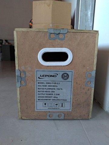 Bomba Esgoto Wq 50wq15-20-2,2 Kw Lepono 3hp Trifasi 220/380v - Foto 2