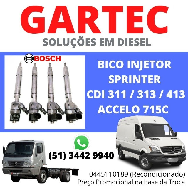 Bico Injetor Sprinter CDI 311 313 413 Accelo 0445110189/190
