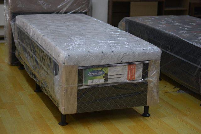 Cama box solteiro com 10 cm espuma - Novo - Foto 2
