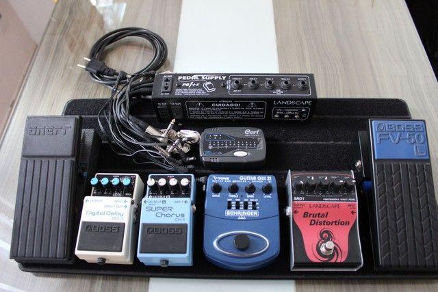 Kit pedaleira para guitarra (diversos itens) - Foto 5