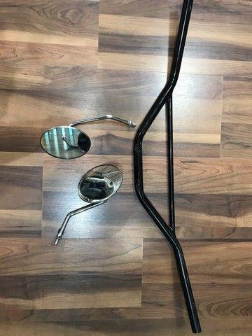 Par de espelhos mais guidão