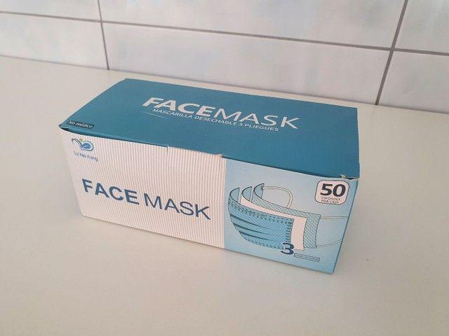 Máscaras com 3 camadas - 50 unidades