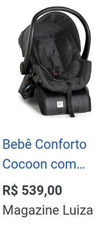 Bebê conforto Galzerano com base - Foto 4