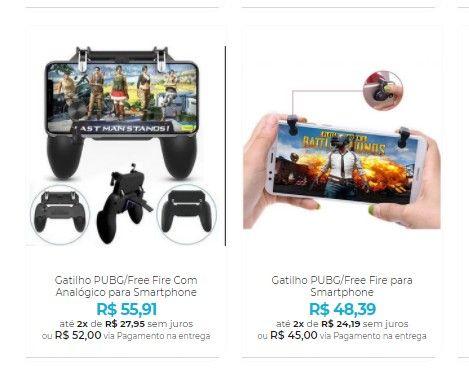 Controle para Celular - Gamepads e Gatilhos para seu Smartphone - Foto 3