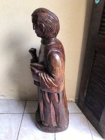 Imagem Sacra Padre Cícero Madeira Maciça grande em Fortaleza - Foto 5
