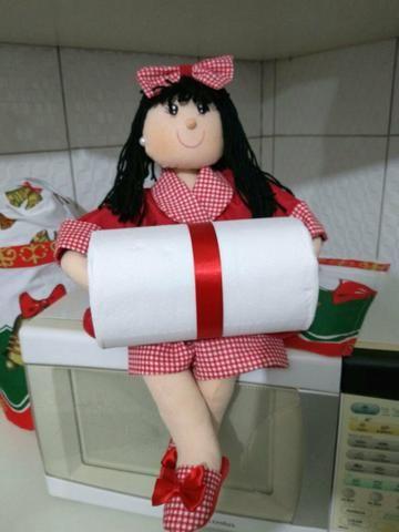 Bonequinhos porta papel higiênico