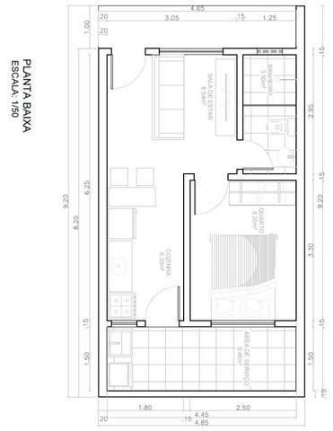 Apartamento tipo kitchenette - Rua 11 de Março - Bairro Placas