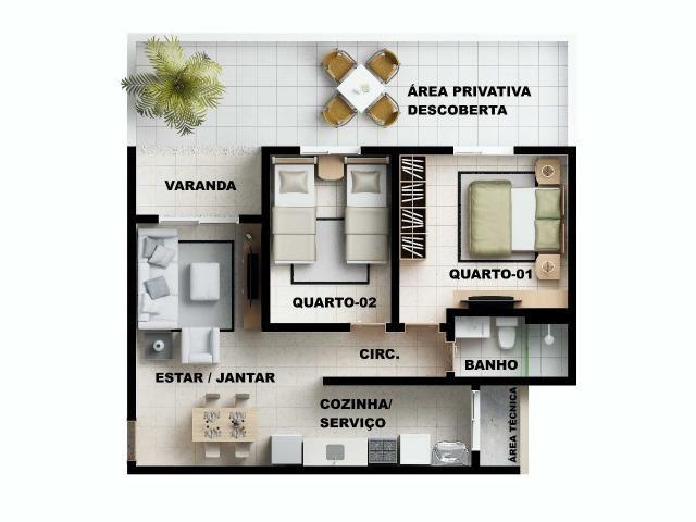 Apartamento 2/4 com suíte - Entrada Facilitada - 1 minuto da FTC - Bairro SIM - Foto 16