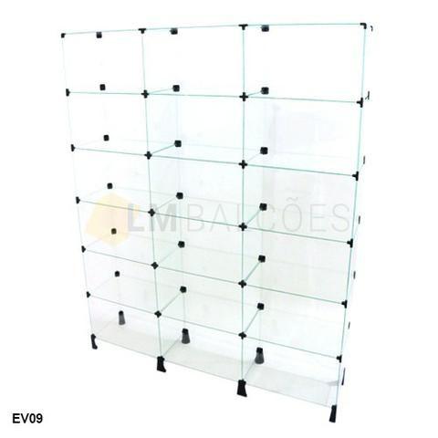 Estante de vidro 1,50 x 1,90 x 0,30 ideal para sua loja em ate 6 x sem juros - Foto 2