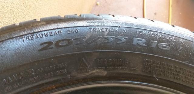 """Jogo de rodas de ferro 16"""" com pneus Michelin - Foto 4"""