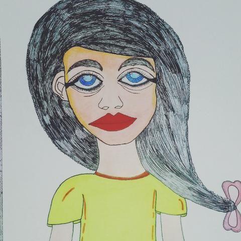 Desenho de uma mulher