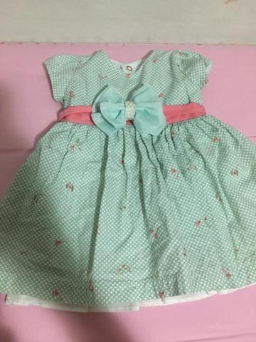 Vestido menina 3 a 6 meses