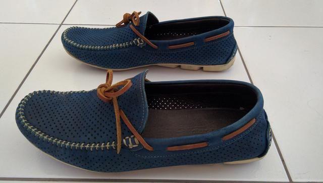 Sapato Homem do Sapato cor azul-Faço a entrega