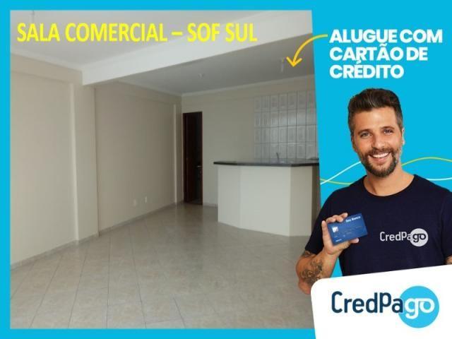 Sala comercial r$ 750,00 já incluso condomínio - sof sul