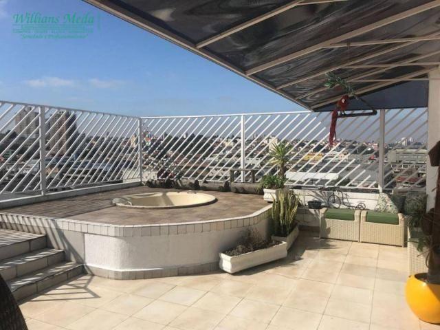 Cobertura com 4 dormitórios à venda, 214 m² por r$ 750.000 - vila galvão - guarulhos/sp