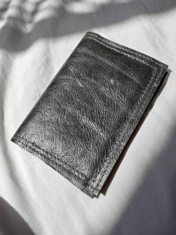 Carteira de couro legítimo - Foto 3