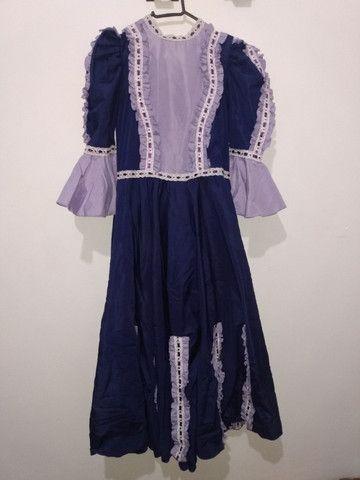 Vestido de prenda roxo - Foto 2