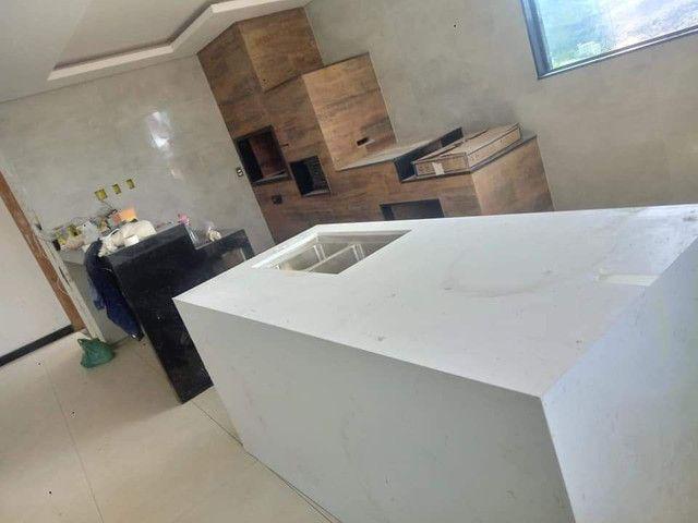 Bancada, nichos, lavatórios em porcelanato  - Foto 2