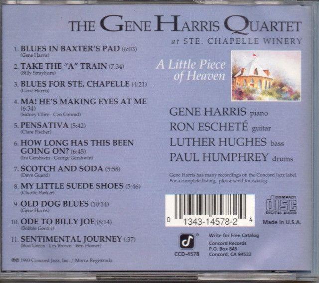 Cd- Jazz- The Gene Harris Quartet - A Little Piece Of Heaven - Foto 2