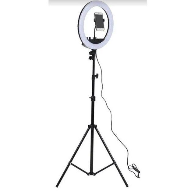 Iluminador de 20cm com tripé Grande-(Lojas Wiki)