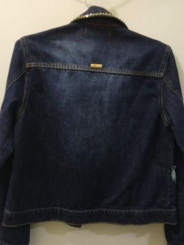 Jaqueta jeans com strass - Foto 2