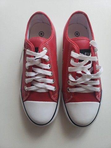 Tênis converse vermelho 37 - Foto 2