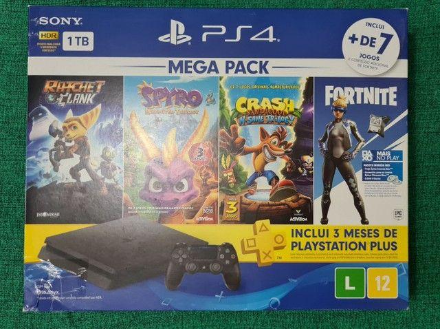 PS4 Slim. Novo na caixa, e na garantia.