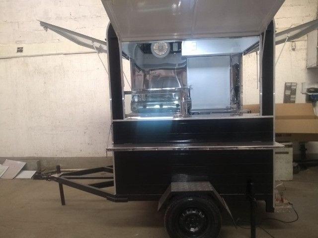Treilher simples 1,70 para lanches açai sorvete food truck - Foto 2