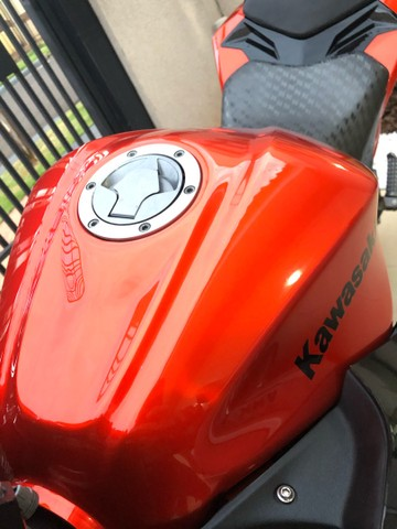 Tanque de combustível Kawazaki z300 laranja 2016 - Foto 4
