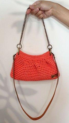 Bolsa Fenda em crochê  - Foto 3