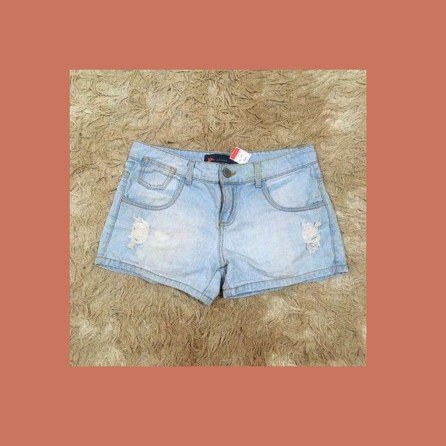 Short jeans claro Pool tamanho 38 - Foto 3