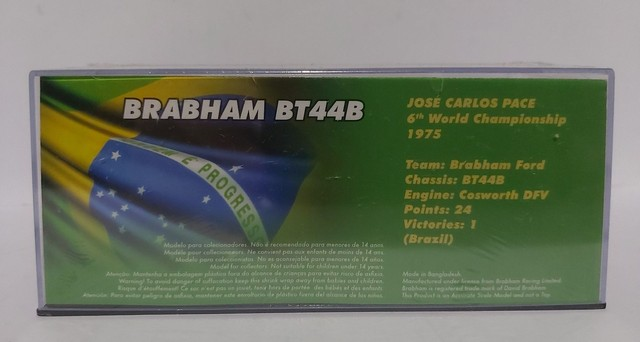 MINIATURA  BRABHAM BT44B - JOSE CARLOS PACE - BRAZIL GP 1975 199 - Foto 2