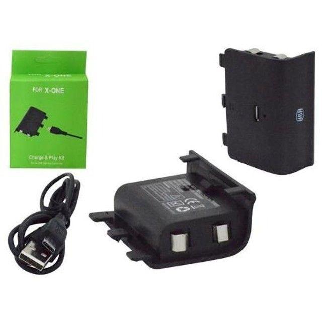 Kit Bateria + Carregador P/ Controle Xbox One Recarregável - Foto 2