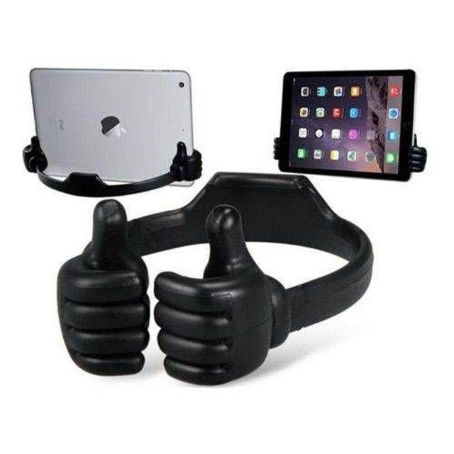 Suporte Flexível De Mesa Celular Smartphone Tablet Mãozinha