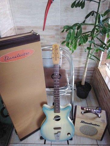 Guitarra Acústica Danelectro(Rara no Brasil) - Foto 6