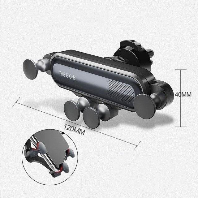 Suporte Celular Veicular Universal p Ar Condicionado c/ trava antiqueda - MTG-065 Tomate - Foto 3