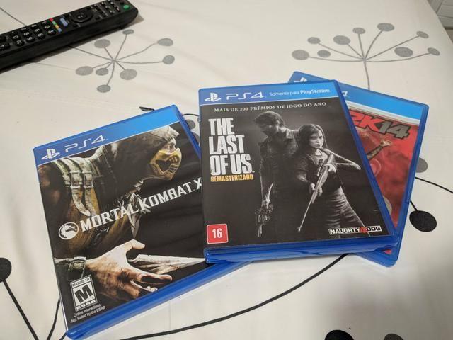 Jogos PS4 - The last of us, mortal kombat