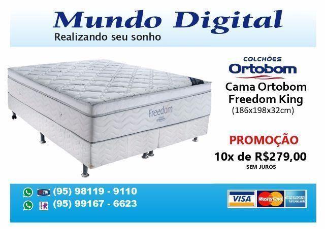 Molas Ensacadas Promoção 10x 269,00 Cama King Freedom Ortobom