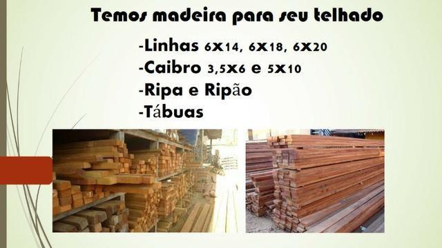 Madeira, telhas e materiais em até 12x