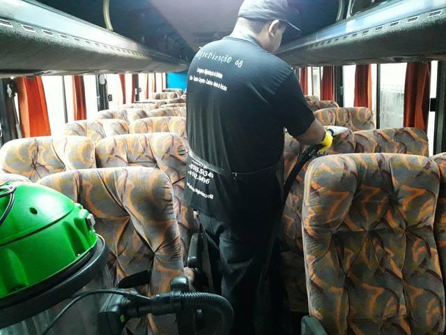 Higienização interna em Caminhões e Ônibus