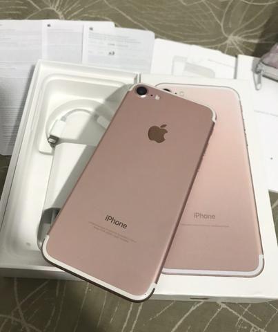 IPhone 7 32gb Rosé Gold na caixa completa com todos acessórios originais