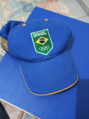 Boné Brasil Original rio 2016, atletas olímpicos time Brasil - Foto 2