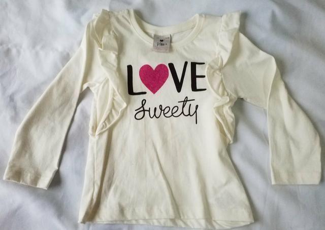 Lote camisas fininhas meninas 3 anos (novinhas) - Foto 2