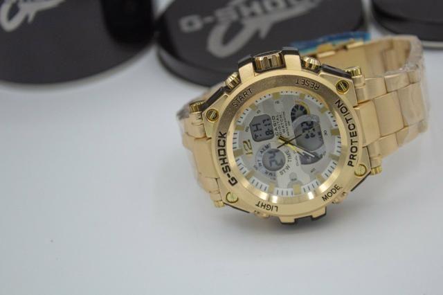 Relógio de pulso G-shock Full metal dourado barato