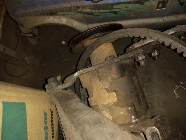 Caixa de direção hidráulica original do Santana com suporte e bomba - Foto 4