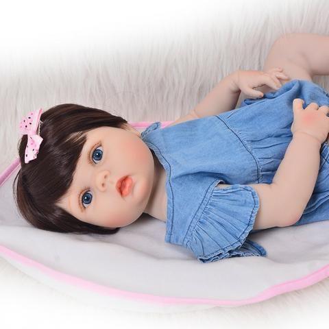 Bebê Reborn Boneca Realista Corpo De Silicone 57 Cm Menina Frete Grátis - Foto 4