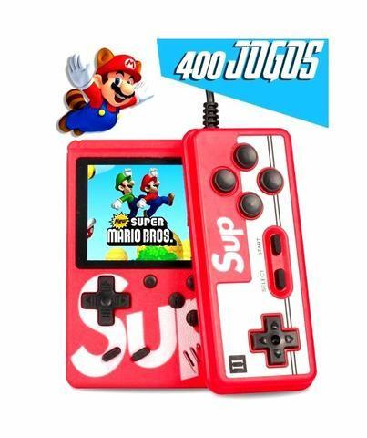Mini game retrô Nintendo 400 jogos + player 2
