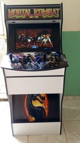 Bartop tela de 19 polegadas com 7 mil jogos sistema linux batocera - Foto 5