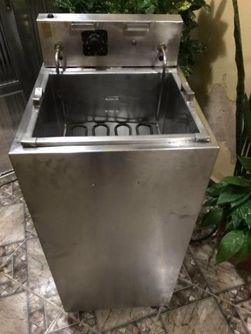 Fritadeira 25 litros água e óleo inox - Foto 3